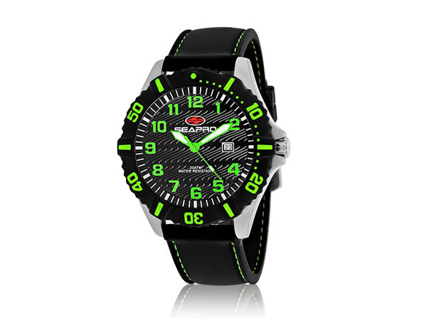 Seapro Men's Trooper Watch (Black/Green)