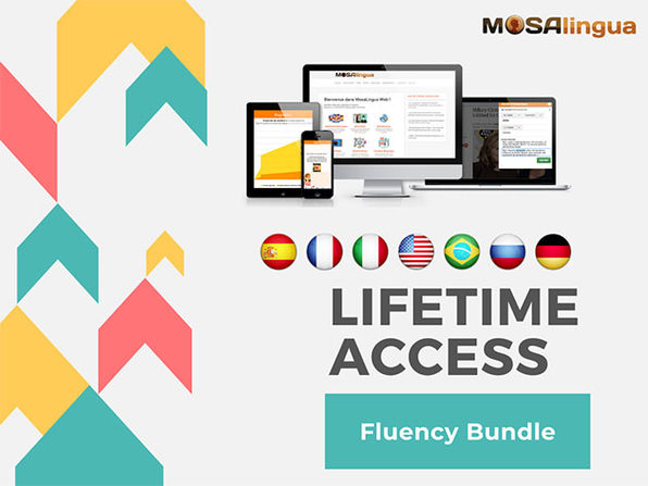 MosaLingua Language Learning Fluency Bundle: Lifetime Subscription