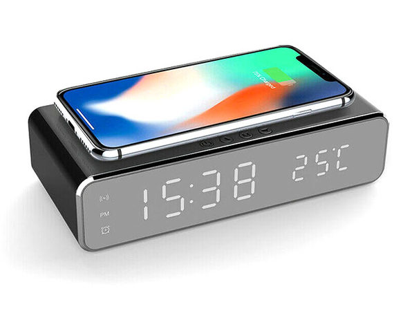 Alarm Clock with Wireless Charging
