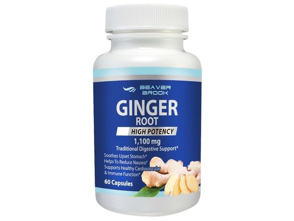 Beaver Brook Ginger Root High Potency 1,100mg All Natural Dietary Supplement - 120