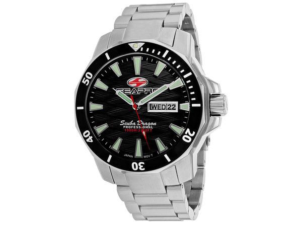 Seapro Men's Scuba Dragon Diver Limited Edition 1000 Meters Black Dial Watch - SP8310S