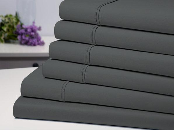 Bamboo Comfort 6-Piece Luxury Sheet Set (Grey/Queen)