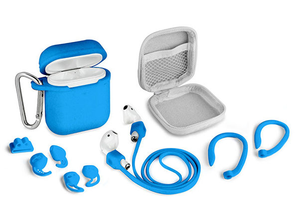 Aduro AirPods 8-Piece Accessory Bundle (Blue)