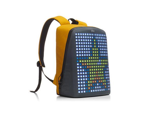 Pix Smart: LED Customizable Urban Backpack (Yellow)