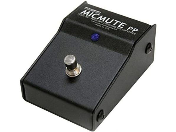 Whirlwind Micmute Latching Push On/Off Foot Pedal Mic Switch with XLR I/O Jack (Used, Open Retail Box)