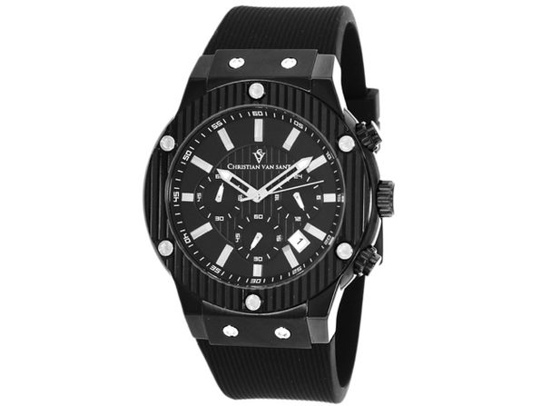 Christian Van Sant Men's Monarchy Black Dial Watch - CV8120 - Product Image