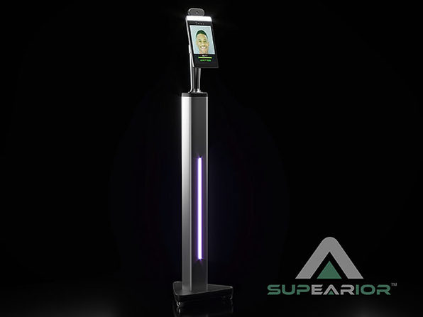 Supearior™ Automated Temperature Screening Kiosk (Floor Stand, With FR)