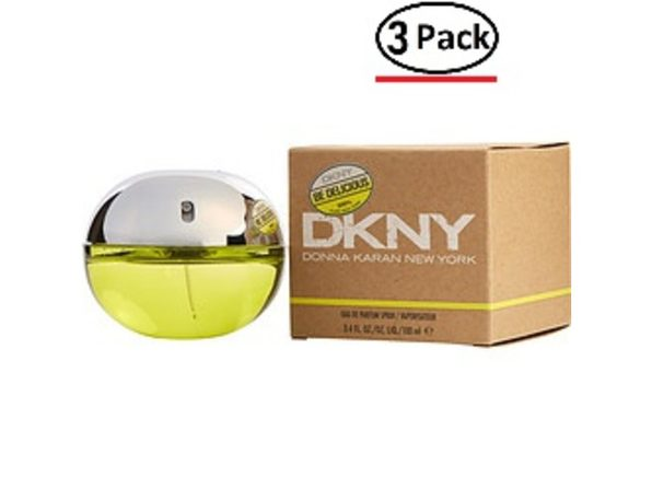 Dkny Be Delicious By Donna Karan Eau De Parfum Spray 3.4 Oz For Women (Package Of 3) - Product Image