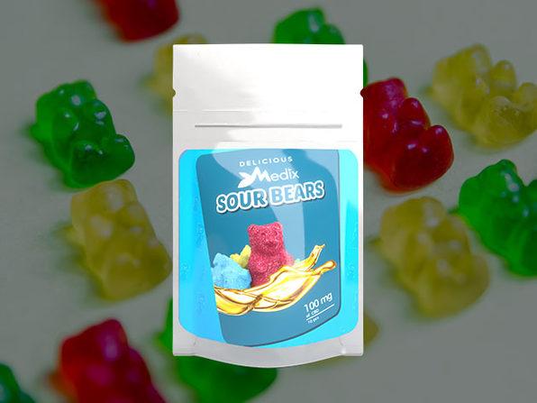 Medix CBD 10 piece Sour Bears (100mg) - Product Image