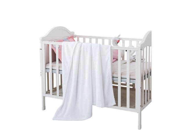 "Style Basics Silky Soft Thick Plush 46 X 34"" Baby Crib Blanket - Pink"