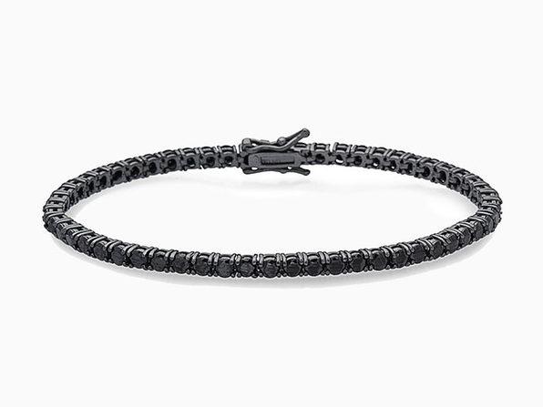 "Black Tennis Bracelet (7.25"")"