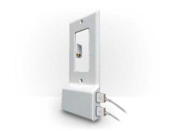 Invisible Dual USB Wall Charger Plate