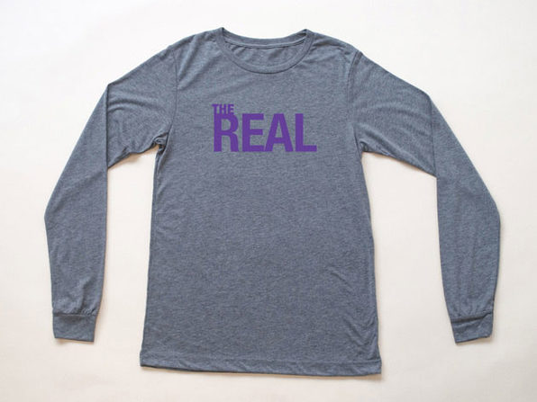 The Real Heather Gray Long Sleeve Shirt (XXL)