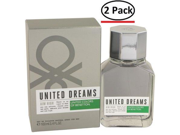 United Dreams Aim High by Benetton Eau De Toilette Spray 3.4 oz for Men (Package of 2) - Product Image