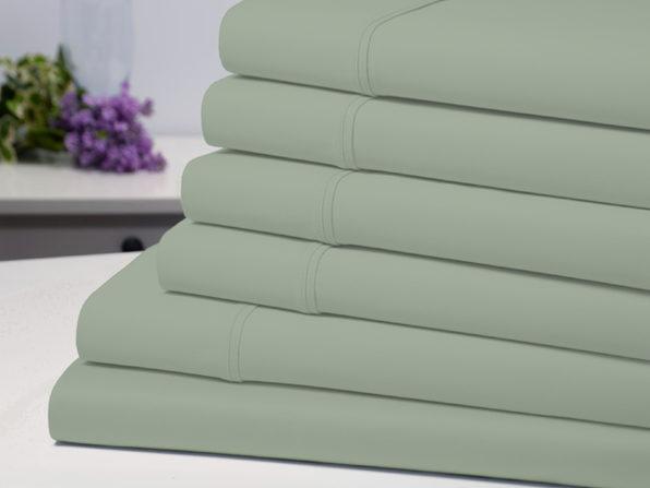 Bamboo Comfort 6-Piece Luxury Sheet Set (Sage/Full)