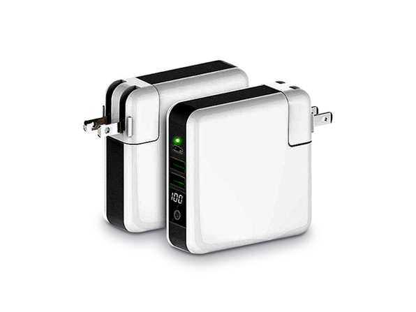3-Port Charger with Qi-Enabled Wireless Charger & Power Bank