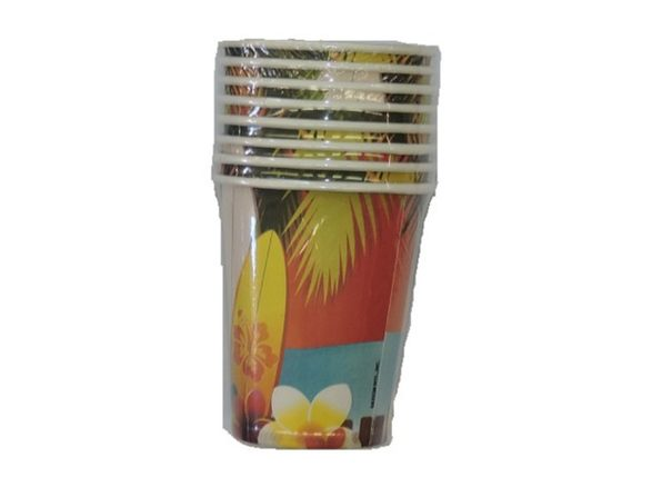 Hawaii Beverage Cups Pack of 8 - Product Image