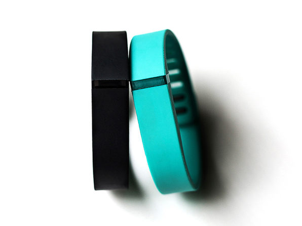 Refurbished FitBit Flex w/Black & Teal Bands - Small - Product Image