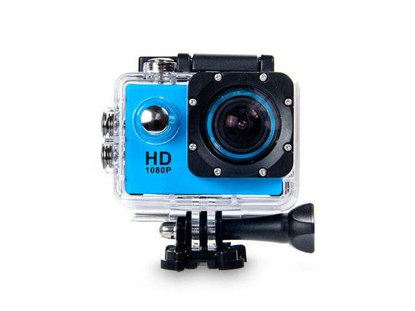 Electronic Avenue HD Waterproof Action Camera + Accessory Pack (Blue)
