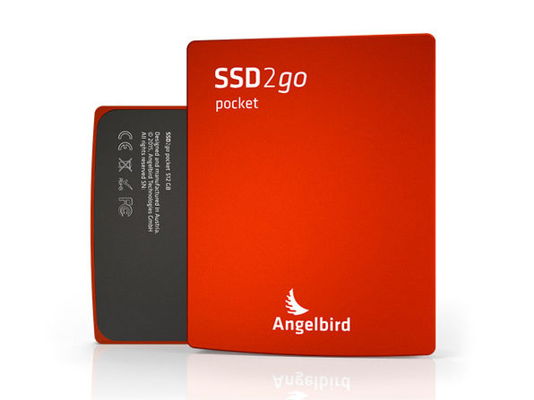 SSD2go Pocket USB Drive, 128GB (Red) - Product Image