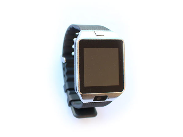 Bluetooth Smartwatch with Camera and Pedometer (Silver)