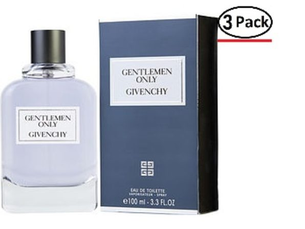 GENTLEMEN ONLY by Givenchy EDT SPRAY 3.3 OZ for MEN ---(Package Of 3) - Product Image