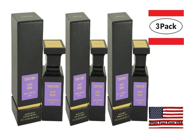 3 Pack Tom Ford Caf� Rose by Tom Ford Eau De Parfum Spray 1.7 oz for Women - Product Image