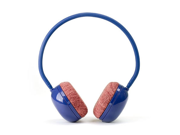June and May Bluetooth On-Ear Headphones (Navy Blue/Red)