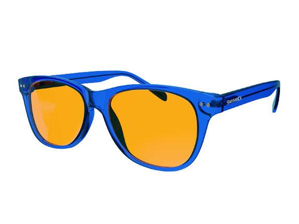 Swanwick® Crystal Night Swannies: Blue Light Blocking Glasses (Sapphire)