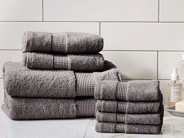 Turkish Cotton 700 GSM Towels: Set of 8 (Charcoal)