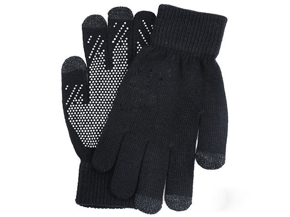 Winter Touch 3-Finger Touchscreen Gloves (Black/2-Pairs)