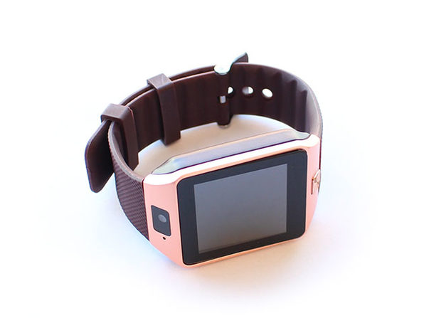 Bluetooth Smartwatch with Camera and Pedometer (Rose Gold)