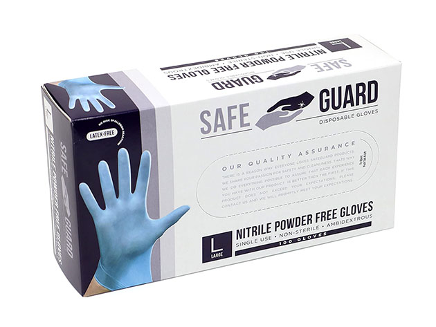 A box of disposable gloves.
