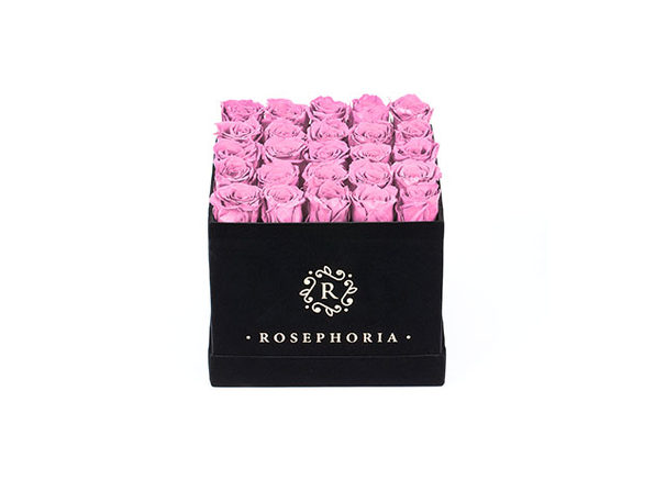 24 Rose Square Box - Pink - Product Image