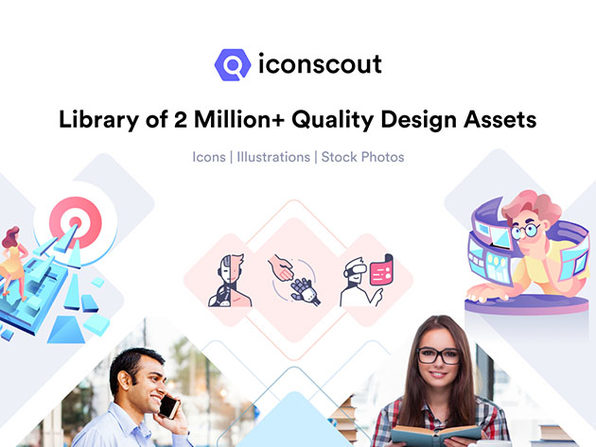 Iconscout Unlimited Icons + 10 Images/Month Plan: 2-Yr Subscription