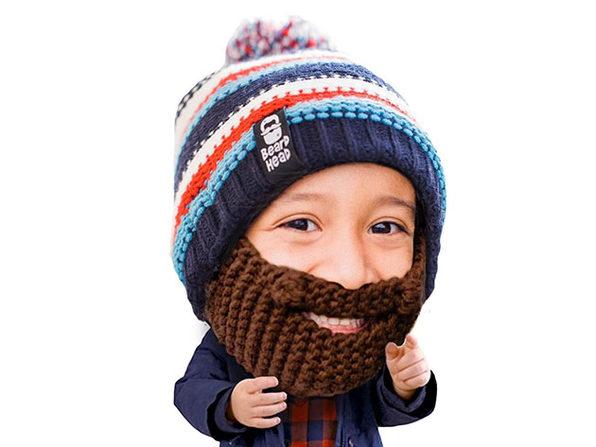 Beard Head® The First Ever Bearded Headwear: Kid Gromm (Brown)