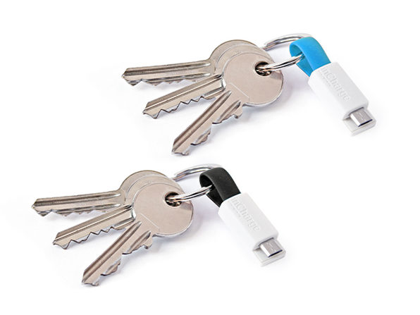 2-Pack of MicroUSB inCharge Keyrings - Product Image