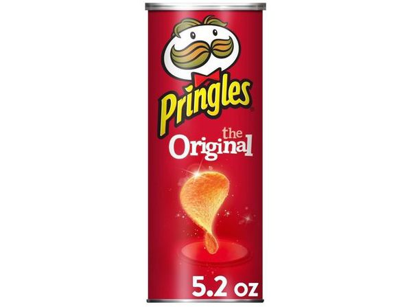 Pringles Original Perfectly Flavored No Artificial Ingredients Potato Crisps Chips, 5.2 Ounce