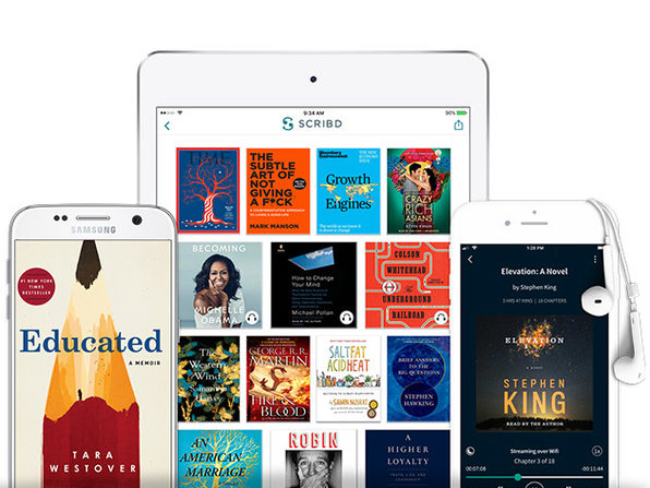 Access an Unlimited* Number of Books, Audiobooks, Magazines & More Anywhere