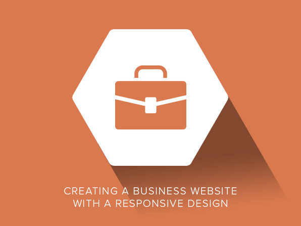 Creating a Business Website with a Responsive Design - Product Image