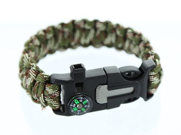 5-in-1 Survival Flint Fire Starter Bracelet: 2-Pack