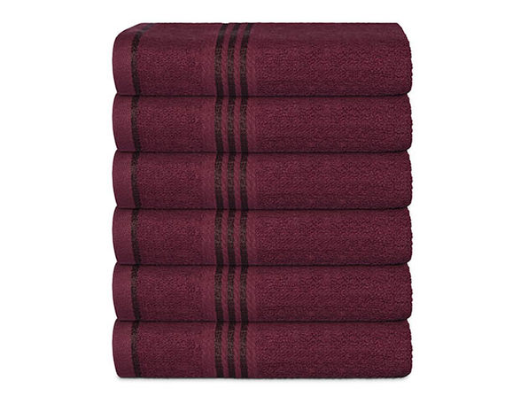 Hurbane Home 6 Piece Hand Towel Set Burgundy - Product Image