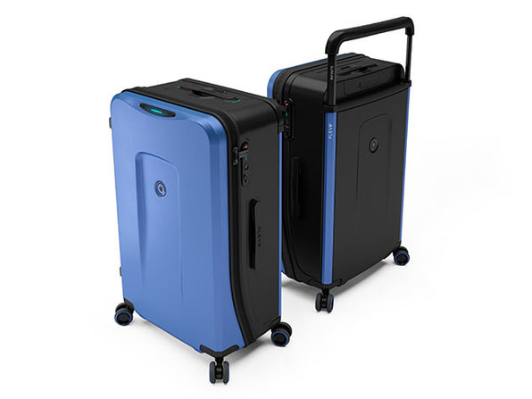Plevo: The Infinite Smart Expandable Luggage (Blue)