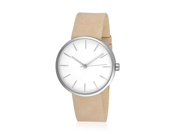 Sleek Minimalist Watch (Tan/Silver)