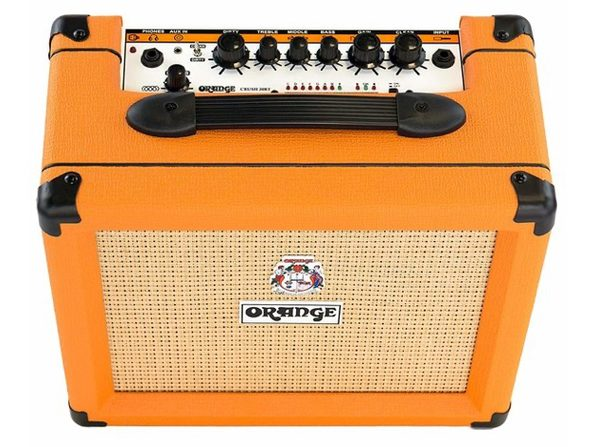 "Orange 20-watt 1x8"" Combo Amp Electric Guitar Power Amplifier Crush20RT- Orange (Distressed Box) | TNW Deals"
