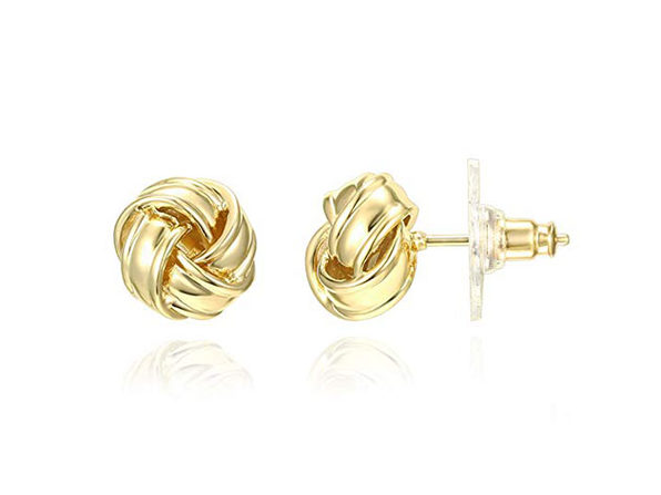 Classic Twist Knot Style Stud Earrings