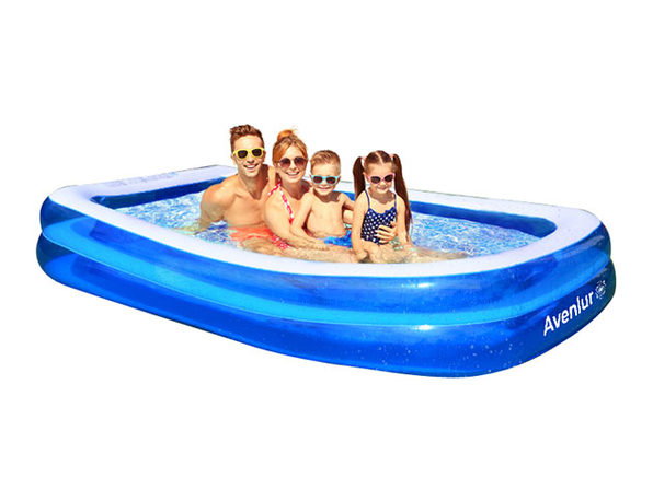 SunClub Inflatable Pool: 10-FT Rectangular - Product Image