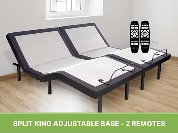 "GhostBed® Luxe 13"" Cooling Mattress (Split King) + Adjustable Base"
