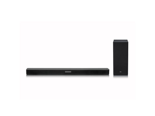 LG SKM5Y 2.1 Channel High Resolution Audio Sound Bar with Wireless Subwoofer, Black (New Open Box)