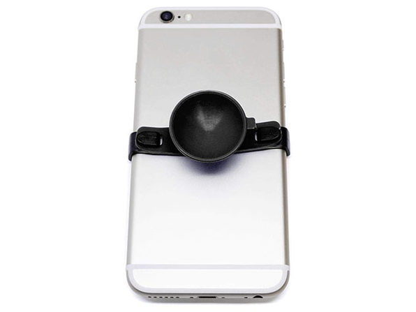 SUC-IT Patented Silicone Suction Phone Holder (Black) with Clips (Black)